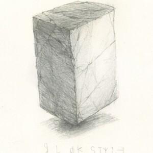 "Blok style<br> 19 x 14 cm - Crayon sur canson - 2020<br> <span style=""color: darkgreen"";>DISPONIBLE</span>"