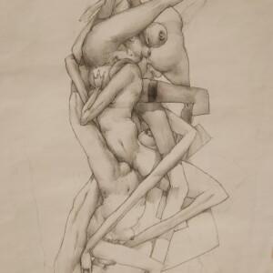 "AEROTICK 2<br> 29 x 41,5cm - Crayon sur papier - 2006<br> <span style=""color: darkgreen"";>DISPONIBLE</span>"