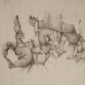 """Dirty<br> 42 x 29,7cm - Crayon sur papier - 2006<br> <span style=""""color: darkgreen"""";>DISPONIBLE</span>"""