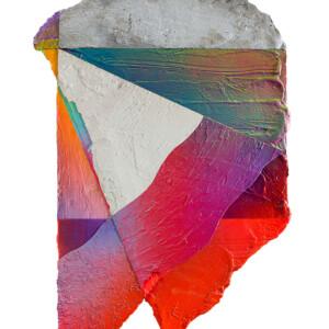 """Mairie de Montreuil<br> 74x47cm - Ciment résine acrylique peinture aérosol sur bois <br> <span style=""""color: darkgreen"""";>DISPONIBLE</span>"""