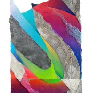 """Rue de la Roquette<br> 90x52,5cm - Ciment, résine acrylique et peinture aérosol sur bois <br> <span style=""""color: darkred"""";>PLUS DISPONIBLE</span>"""