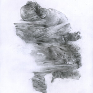 """Dominant<br> 38 x 29,5 cm - Crayon sur papier vernis fixatif - 2020<br> <span style=""""color: darkgreen"""";>DISPONIBLE</span>"""