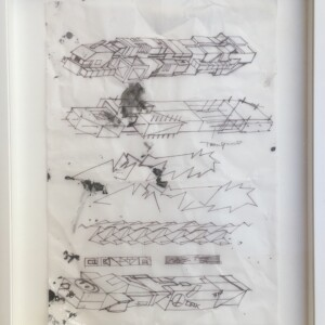 """#20<br> Feutre fin et correcteur liquide sur papier calque -21x29,7 cm -2018<br> <span style=""""color: darkgreen"""";>DISPONIBLE</span>"""