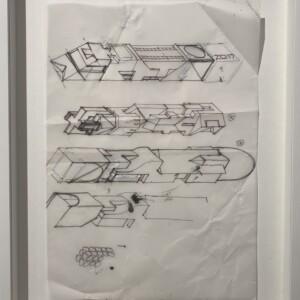 """#09<br> Feutre fin et correcteur liquide sur papier calque -21x29,7 cm -2018<br> <span style=""""color: darkgreen"""";>DISPONIBLE</span>"""
