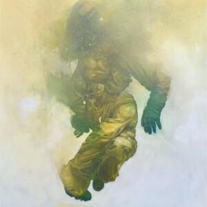 """Dominant #4<br> 110 x 140cm - Aérosol et acrylique sur toile<br> <span style=""""color:darkgreen"""";>DISPONIBLE</span>"""