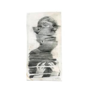 """SANS TITRE<br> 25 x 12 cm - Crayon sur papier - 2020 <br> <span style=""""color: darkgreen"""";>DISPONIBLE</span>"""