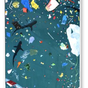 """Slalom<br>   100x170 cm-Techniques mixtes- 2021<br> <span style=""""color: darkgreen"""";>DISPONIBLE</span>"""