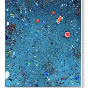 """Anthropo-scènes<br>  100x120 cm- Techniques mixtes- 2021<br> <span style=""""color: darkred"""";>Plus DISPONIBLE</span>"""