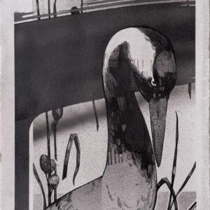 """Grusgrus<br> Encre et aérosol sur papier - 23x29 cm - 2021 <br> <span style=""""color: darkred"""";> PLUS DISPONIBLE</span>"""