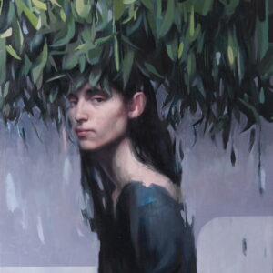 """Inheritance<br> Peinture à l'huile sur lin - 73 x 92 cm - 2021 <br> <span style=""""color: darkgreen"""";>DISPONIBLE</span>"""