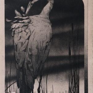 """Walden<br> Encre et aérosol sur papier - 18 x 26 cm - 2021 <br> <span style=""""color: darkred"""";>PLUS DISPONIBLE</span>"""
