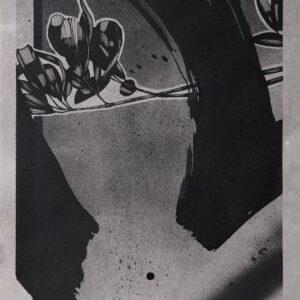 """YTUQUE?<br> Encre et aérosol sur papier - 22 x 28,5 cm - 2021 <br> <span style=""""color: darkgreen"""";>DISPONIBLE</span>"""